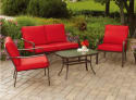 Mainstays Stanton Cushioned 4-Piece Patio Set for $199 + free shipping