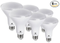 Triangle Bulbs 8W LED Flood Light Bulb 6-Pack for $28 + free shipping w/ Prime