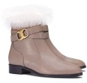 Tory Burch Women's Gemini Link Fur Booties for $208 + free shipping