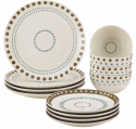 Rachael Ray 12-Piece Stoneware Dinnerware Set for $10 after rebate + free shipping