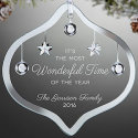 Wonderful Time Personalized Jeweled Ornament for $11 + $6 s&h