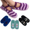 Women's Mary Jane Fuzzy Slipper Socks 4-Pack for $10 + free shipping