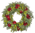 Balsam Hill Holiday Peony Wreath for $199 + free shipping