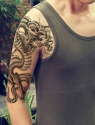 "3D Black Dragon 8"" Temporary Tattoo for $1 + free shipping"