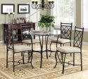 Mainstays 5-Piece Glass-Top Metal Dining Set for $159 + free shipping