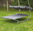 Outsunny Double Hammock Sun Lounger w/ Canopy for $112 + free shipping