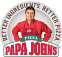 $25 Papa John's Gift Card, 2 Large Pizzas for $25