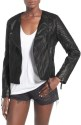 Topshop Women's Faux Leather Biker Jacket for $50 + free shipping