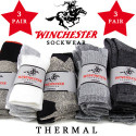Winchester Men's Thermal Socks 3-Pack for $7 + free shipping