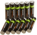 12 AmazonBasics AAA Rechargeable Batteries for $13 + free shipping w/Prime