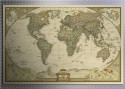 Open-Box Retro Paper World Map for $1 + free shipping