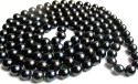 11mm AAA- Black Freshwater Pearl Necklace for $88 + free shipping