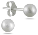 Sterling Silver Ball Stud Earrings for $9 + free shipping