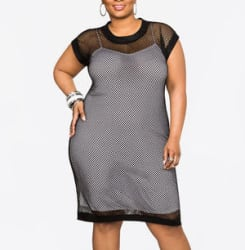 Ashley Stewart Women's Plus Mesh Tank Dress $33