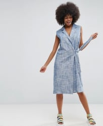 Asos Women's Chambray Wrap Dress for $50
