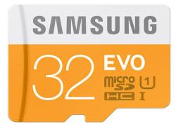 Samsung 32GB Evo microSDHC Card w/ Adapter $9