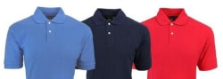 Reebok Men's Cotton Polo Shirt 3-Pack for $30 + free shipping