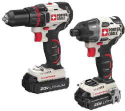 Porter-Cable Drill/Impact Driver Combo Kit $140