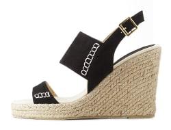Qupid Women's Espadrille Wedge Sandals for $18