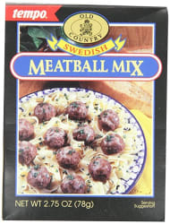 12 Tempo Swedish Meatball Mix Packets for 79 cents