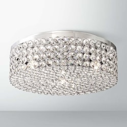 """Velie 12"""" Wide Round Crystal Ceiling Light $150"""