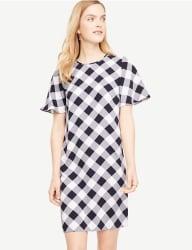 Ann Taylor Women's Gingham Ruffle Dress for $48