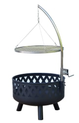 """Outsunny 24"""" Round Barbecue Grill Fire Pit for $60 + free shipping"""