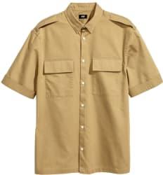 H&M Men's Short-Sleeved Utility Shirt for $8
