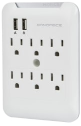 Monoprice 6-Outlet Wall Tap Surge Protector $13