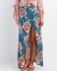 Charlotte Russe Women's Floral Maxi Skirt for $15