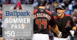 Arizona Diamondbacks Ballpark Summer Pass $50