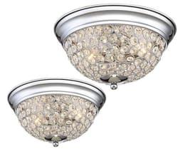 2 Possini Euro Faith Ceiling Lights for $70