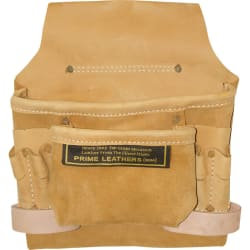 8-Pocket Leather Nail and Tool Pouch for $10