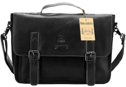 Berchirly Vintage PU Leather Briefcase for $25