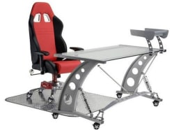 Grand Prix Armrest Chair with Pit Stop Desk $725