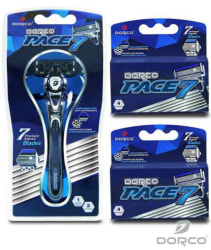 Dorco Men's Pace 7 Razor w/ 10 Cartridges for $13