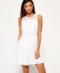 Superdry Women's Geo Lace Mix Skater Dress for $37
