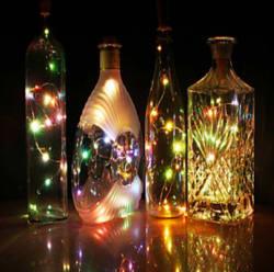 7ft 20-LED Bottle Fairy String Lights 6-Pack $8