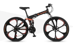 "Rockefeller Men's 21-Speed 26"" Folding Bike $240"