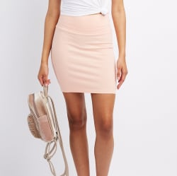 Charlotte Russe Women's Bodycon Mini Skirt for $5