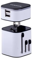 Tensun Travel Plug Adapter w/ 2 USB Ports for $12