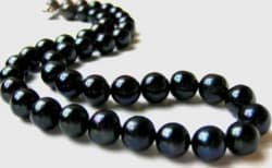 11.5mm AAA- Black Freshwater Pearl Necklace $39