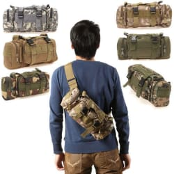 Military Assault Molle Camping Waist Bag for $11