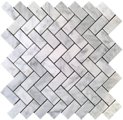 "Carrara 1x2"" Marble Tile for $12 per sq. ft."
