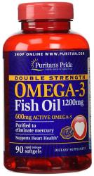Puritan's Pride Omega-3 Fish Oil 90ct Bottle $15