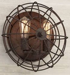 Franklin Iron Works Industrial Wall Sconce $100