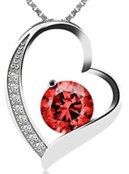 J.Rosee Cubic Zirconia Heart Necklace for $5