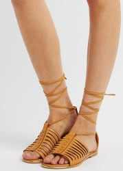 Charlotte Russe Women's Qupid Lace-Up Sandals $11