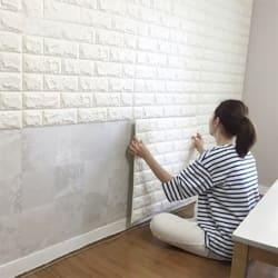 Art3d 6-Sq. Ft. Peel & Stick Brick Wall Panel $19