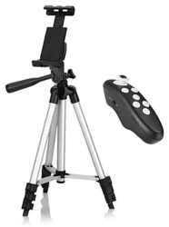 Smartphone Tripod with Bluetooth Remote for $15